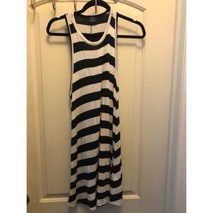Racerback Zara Navy and White Striped Small Dress
